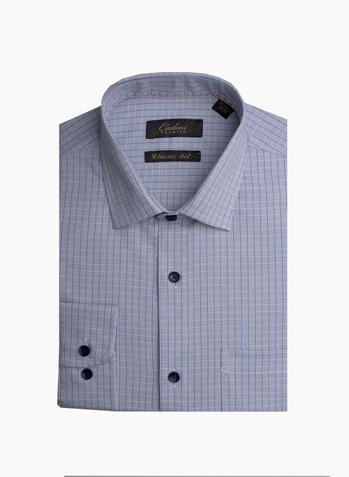 Camisa  Vestir Color Gris Marca Cadini Premium