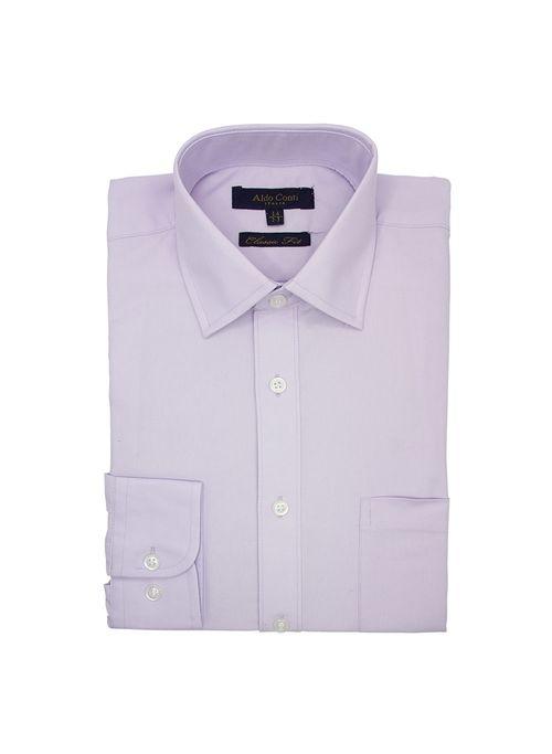 Camisa  Vestir Color Lila Marca Aldo Conti Black