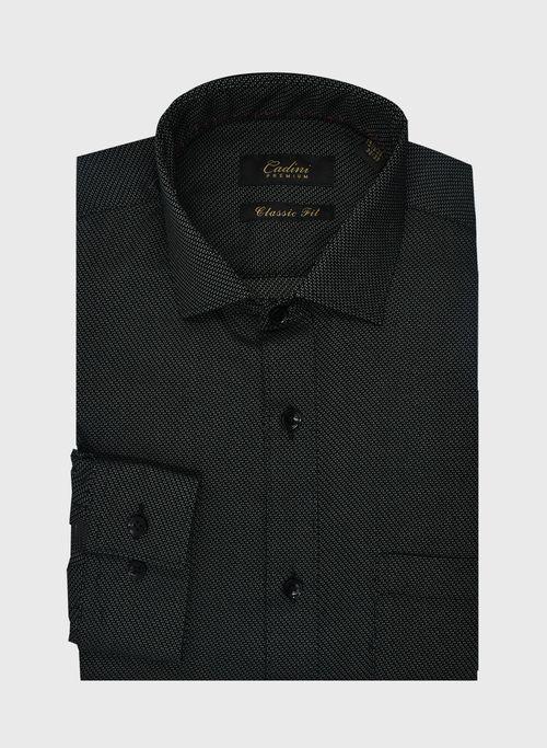 Camisa Color Negro Cadini Premium