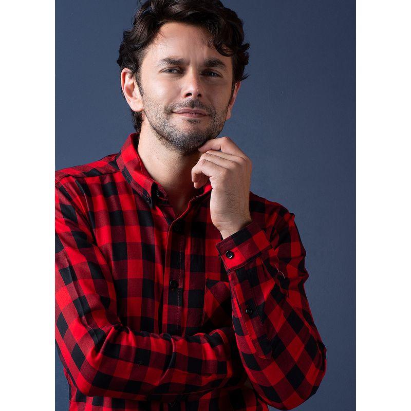 Camisa--Casual-Color-Rojo-Marca-Vermonti