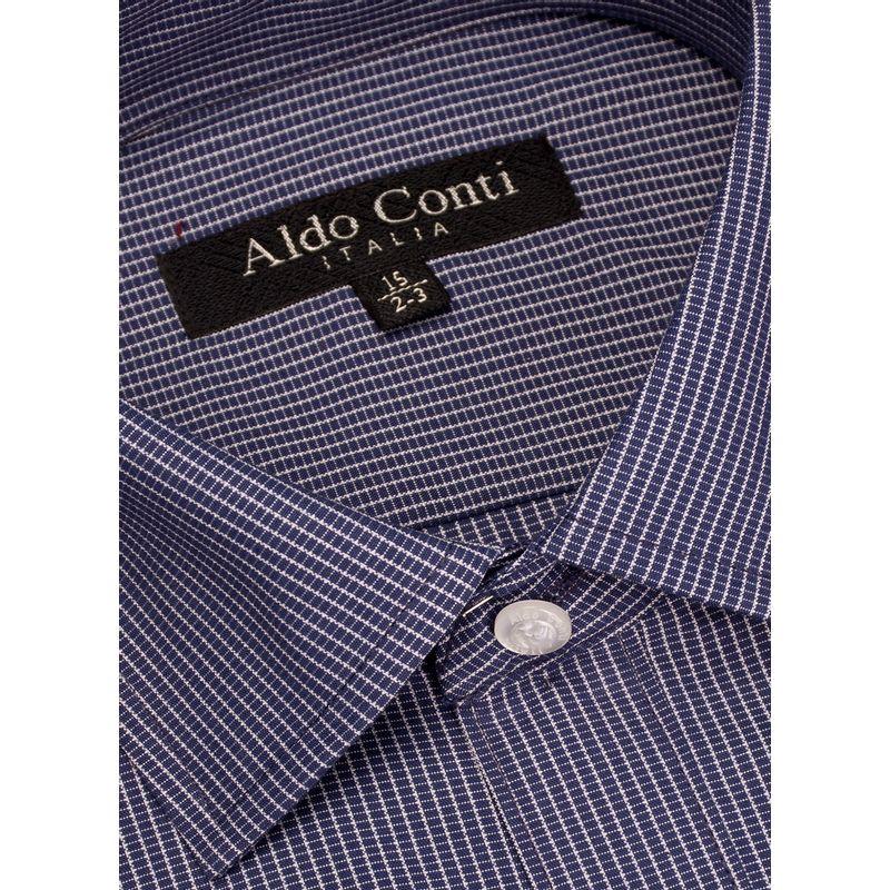 Camisa--Vestir-Color-Marino-Marca-Aldo-Conti-Black