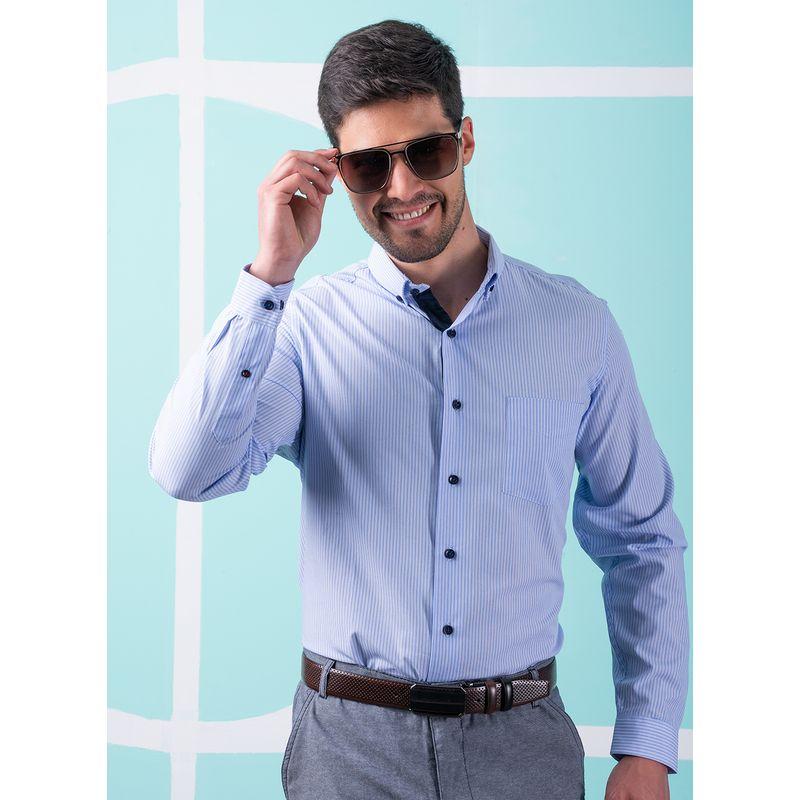 Camisa--Casual-Color-Azul-Marca-Aldo-Conti