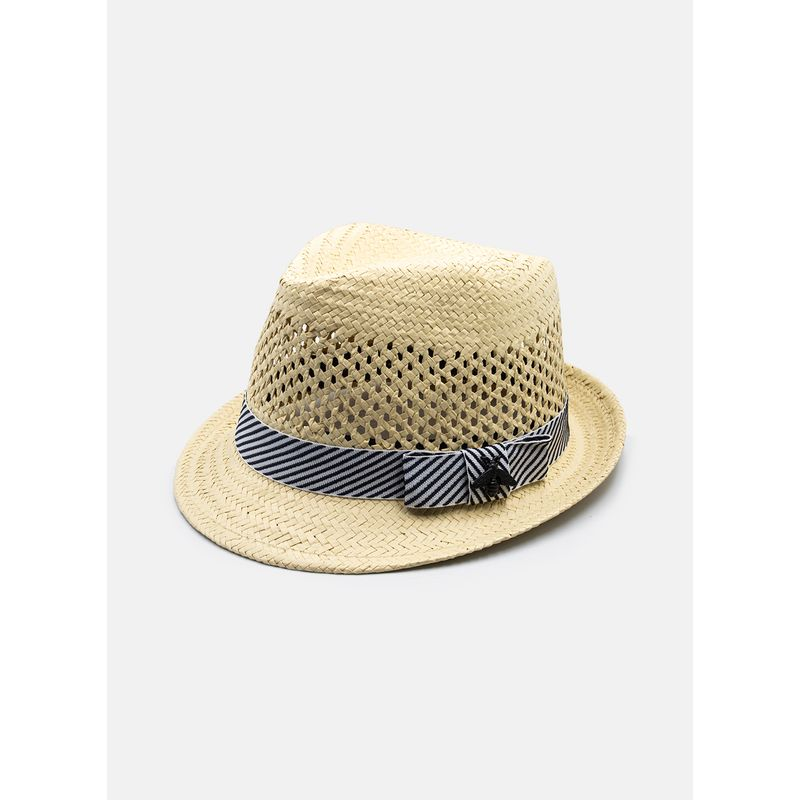 Sombrero--Accesorios-Color-Hueso-Marca-Argento.-Composicion---100-PAPEL
