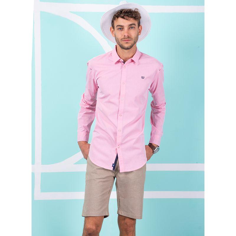 Camisa--Casual-Color-Rosa-Marca-Vermonti.-Composicion---70-ALGODON-30-POLIESTER