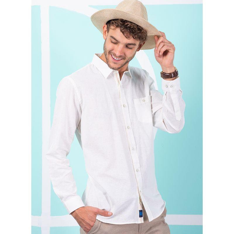 Camisa--Casual-Color-Hueso-Marca-Vermonti.-Composicion---55-LINO-45-ALGODON