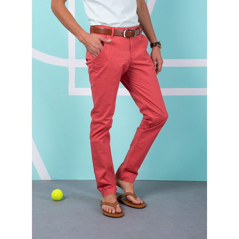 Pantalon--Casual-Color-Coral-Marca-Aldo-Conti-Lexus.-Composicion---