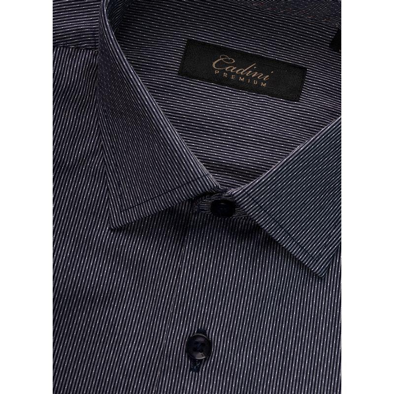 Camisa--Vestir-Color-Marino-Marca-Cadini-Premium.-Composicion---60-ALGODON-40-POLIESTER