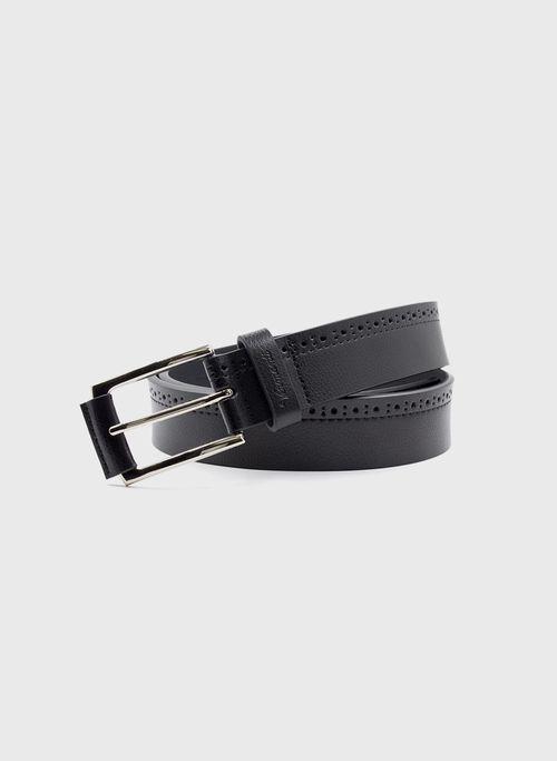 Cinturon  Accesorios Color Negro Marca Vermonti. Composición:  100% CUERO