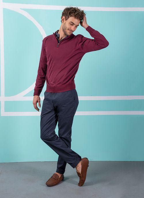Sweater  Casual Color VinoMarca Vermonti. Composición: