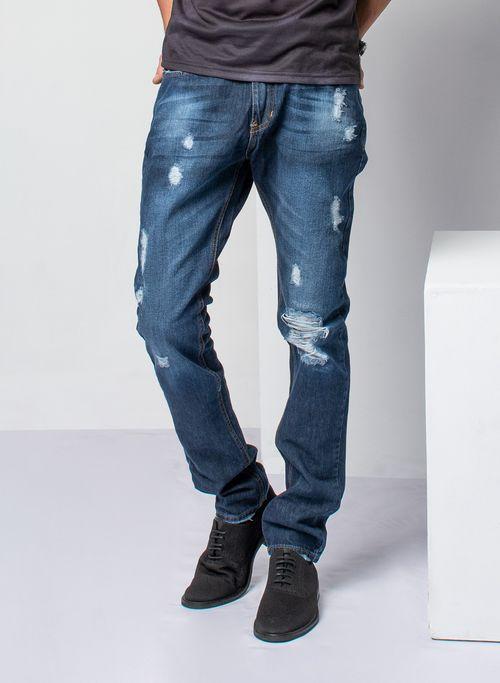 Jeans  Casual Color Azul Marca Aldo Conti Lexus. Composición: