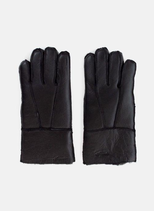 Guante  Accesorios Color Negro Marca Argento. Composición:  100% CUERO