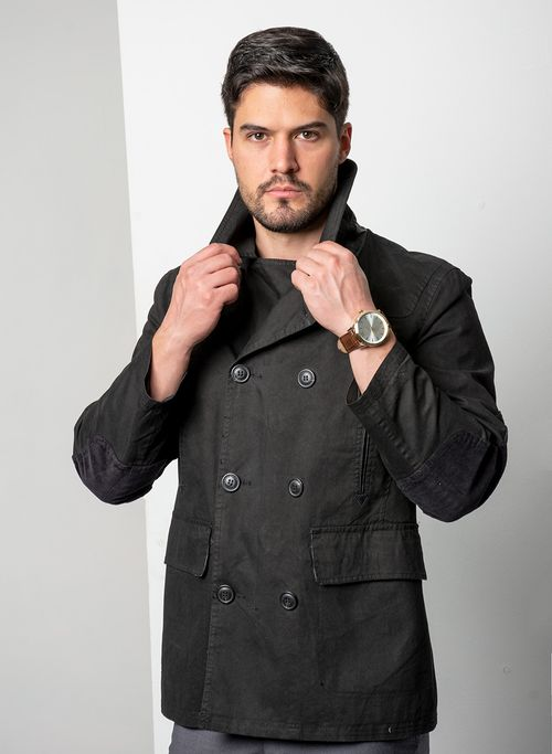 Saco  Vestir Color Negro Marca Arezzo. Composición: