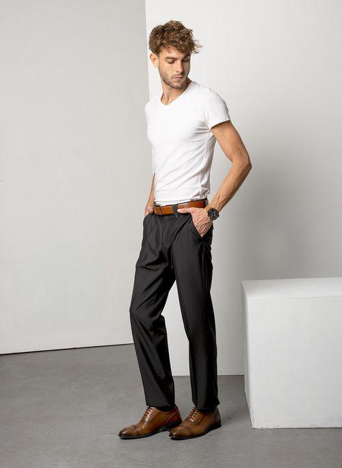 Pantalon  Vestir Color Negro Marca Aldo Conti Black. Composición:  78%POLIESTER 22%VISCOSA