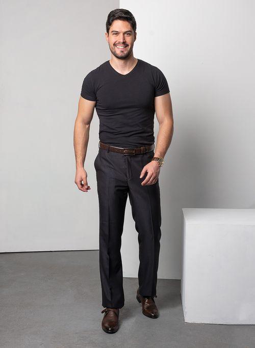 Pantalon  Vestir Color Negro Marca Aldo Conti Black. Composición:  83%POLIESTER 17%VISCOSA