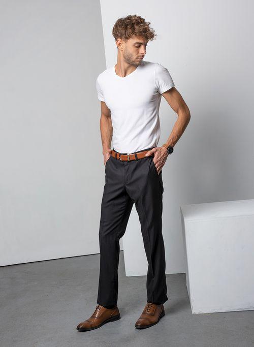 Pantalon  Vestir Color Negro Marca Aldo Conti Black. Composición:  70%POLIESTER 30%VISCOSA