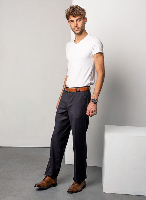 Pantalon  Vestir Color Negro Marca Aldo Conti Black. Composición:  75%POLIESTER 25%VISCOSA
