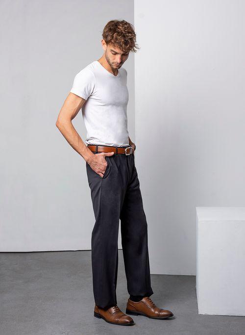 Pantalon  Vestir Color Gris Marca Aldo Conti Black. Composición:  90%POLIESTER 10%VISCOSA