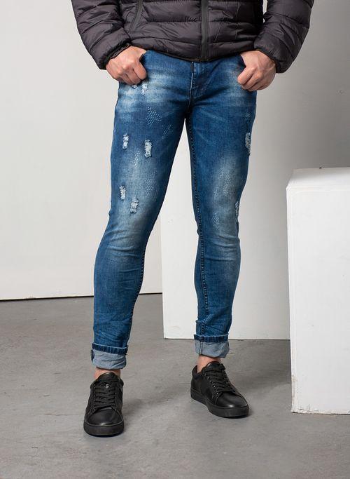 Jeans  Casual Color Azul Marca Otras. Composición: