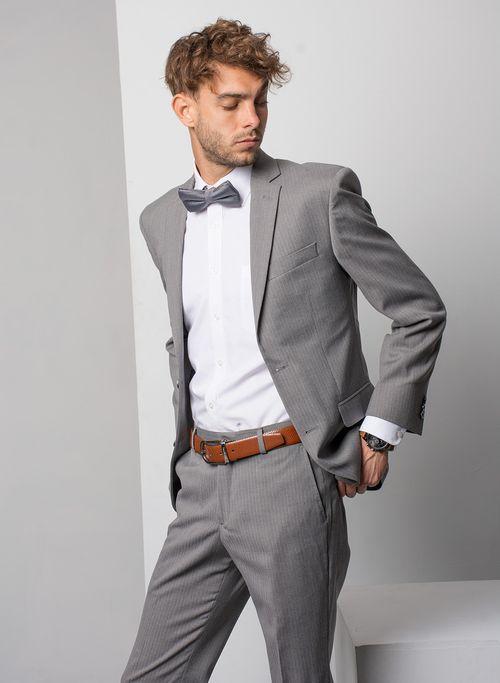 Traje  Vestir Color Gris Marca Aldo Conti Black. Composición:  82%POLIESTER 16%VISCOSA 2%SPAN