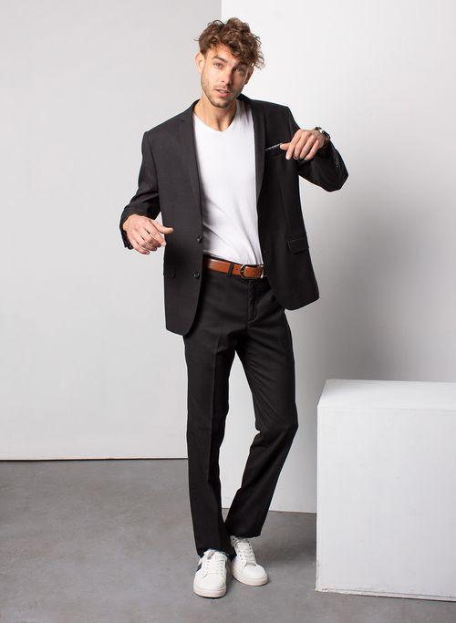 Traje  Vestir Color Negro Marca Aldo Conti Black. Composición:  77% POL 21% VIS 2% ELAS