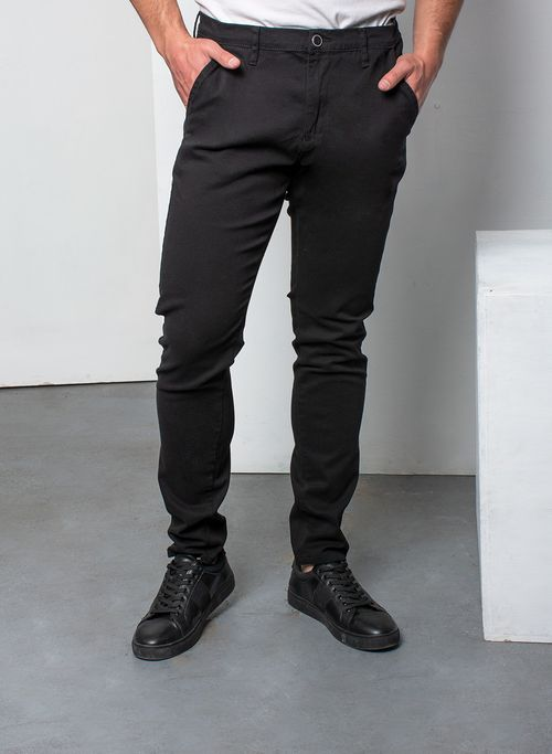 Pantalón, Negro, Skinny Fit, Marca Aldo Conti Lexus