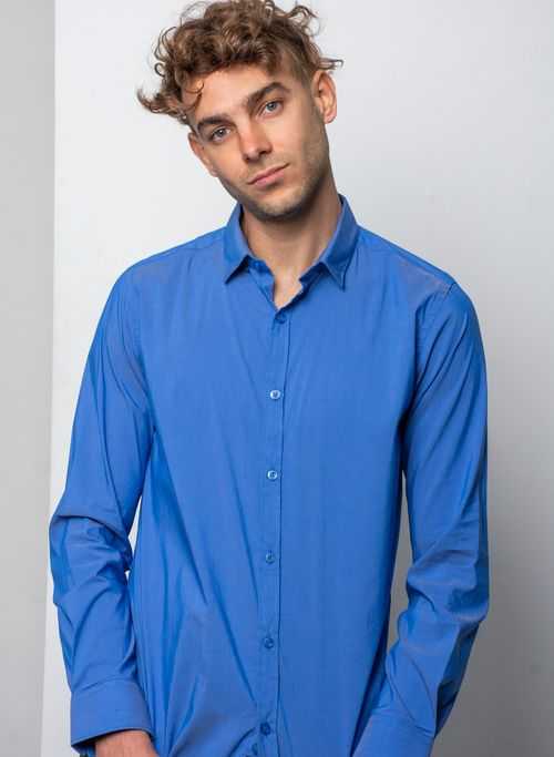 Camisa, Azul, Skinny Fit, Marca Aldo Coni Lexus