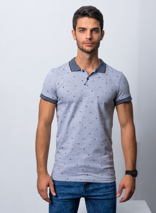 POLO, GRIS, SLIM FIT, MARCA VERMONTI