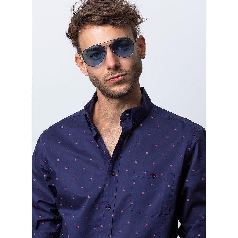 Camisa-Casual-Color-Marino-Marca-Vermonti.-Composicion-