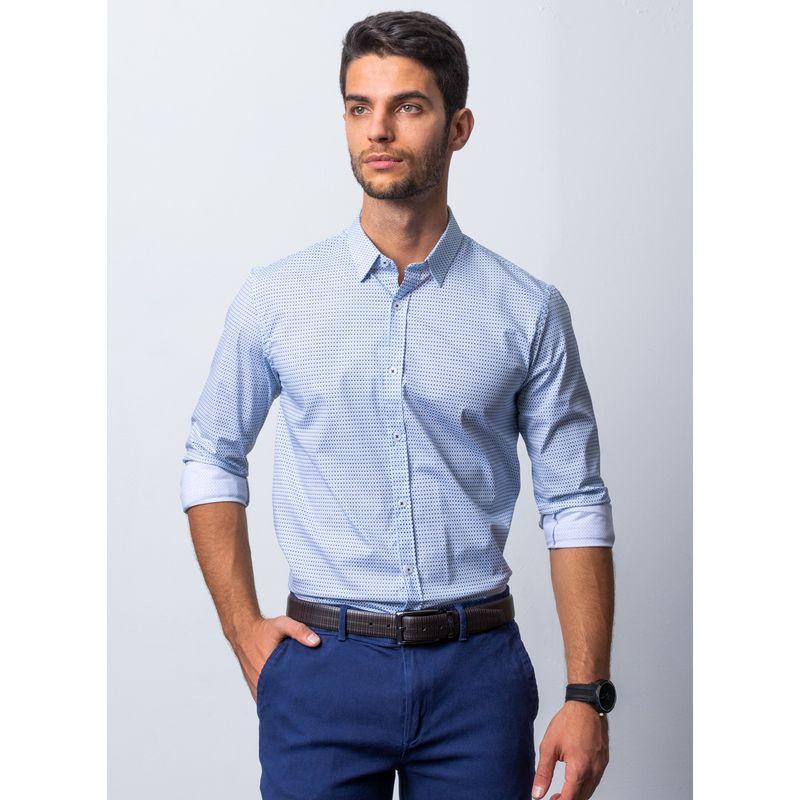 Camisa-Vestir-Color-Azul-Marca-Aldo-Conti-Lexus.-Composicion-